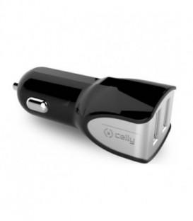 CELLY Ładowarka sam TURBO 3.4A, 2 porty USB bk