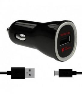 WG Ładowarka samochodowa Fast Charger USB (2,4A)+ dat. Kabel Micro USB TYPE-C/