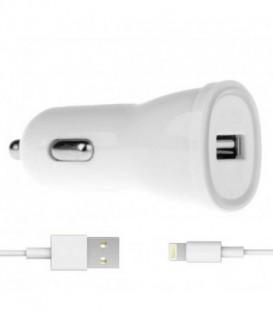 WG Ładowarka samochodowa colour USB (2,4A) + dat. kabel lightning iPhone 5/6/7/