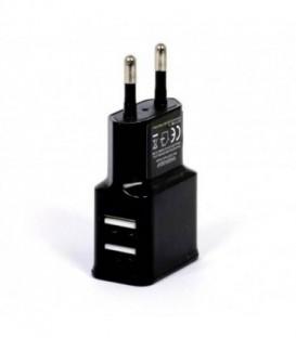 WG Ładowarka sieciowa USB, DUAL USB (2.4A)black / paper box