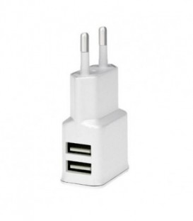 WG Ładowarka sieciowa USB, DUAL USB (2.4A)white / paper box