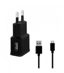 WG Ładowarka sieciowa Fast  USB (2,4A) QC 3.0 + kabel Micro USB /black (5V/9V/12
