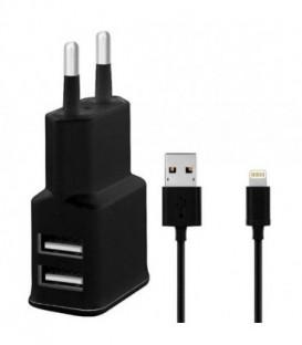 WG Ładowarka sieciowa, DUAL USB (2.4A) + kabel MFI original iPhone (iP5/6/7/8)