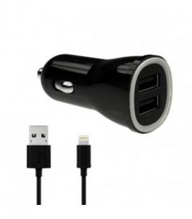 WG Ładowarka samochodowa dual USB (3,1A) SMART IC+ dat. kabel lightning iPhone