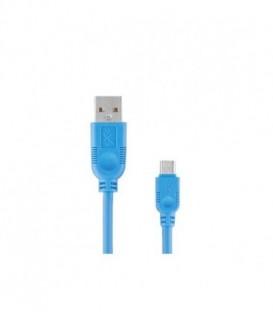 Kabel USB-mUSB eXc WHIPPY,2m,jasno niebieski