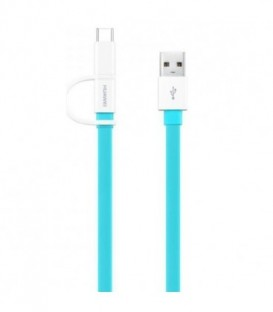 HUAWEI AP55S Kabel USB - MicroUSB + wtyk typu C kolor Turkusowy