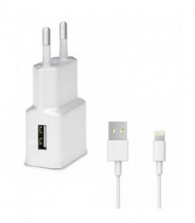 WG Ładowarka sieciowa USB, (2,1A) + kabel iPhone (iP5/6/7/8)white / magnetic bo