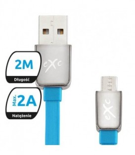 Kabel microUSB eXc LINES,2m,mix