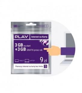 Starter PLAY INTERNET NA KARTĘ 9PLN 3GB MULTI