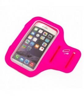 SUNEN Sportowa opaska na ramię na telefon/klucze, Różowa