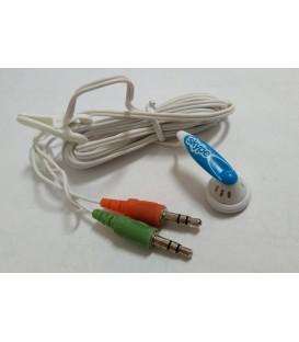Słuchawka z mikrofonem do komputera mini Jack 3,5mm SKYPE