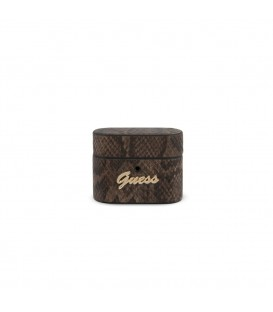 Guess Airpods Pro etui GUACAPPUSNSMLBR brązowe Python Collection