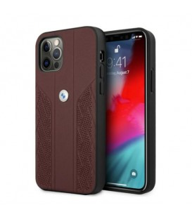 Etui BMW BMHCP12LRSPPR Apple iPhone 12 Pro Max czerwony/red hardcase Leather Curve Perforate